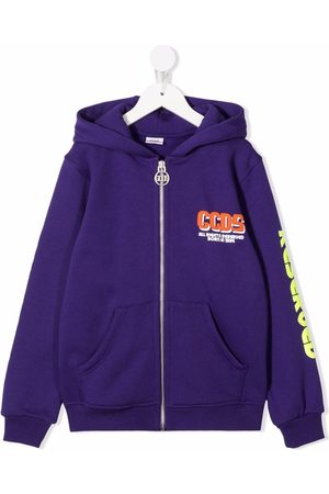 GCDS Boys Bomber Jackets - Logo print zip-up jacket