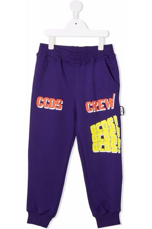 GCDS Boys Sweatpants - Crew logo-print slim joggers