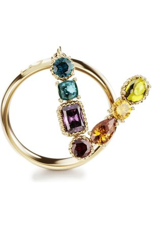 Dolce & Gabbana Women Rings - 18kt yellow Rainbow Alphabet V ring
