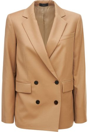 THEORY Piazza Double Breasted Wool Jacket