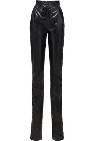 Dolce & Gabbana Women Straight Leg Pants - Laminated Vynil Effect Straight Pants