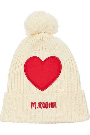 Mini Rodini Heart Organic Cotton Hat W/ Pompom