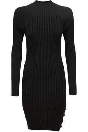 Jacquemus Women Party Dresses - La Robe Pigolo Viscose Knit Mini Dress