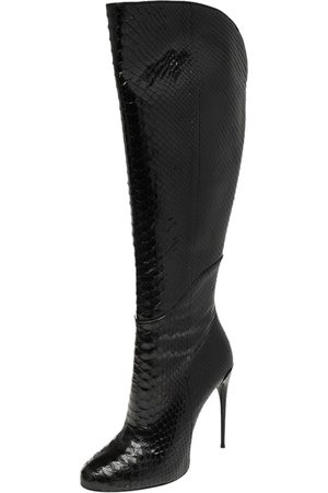 Gucci Python Leather Knee High Boots Size 39