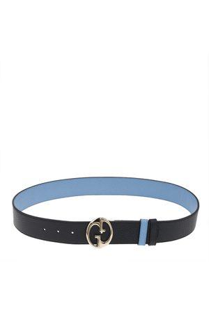 Gucci /Blue Leather 1973 Reversible Belt 90 CM
