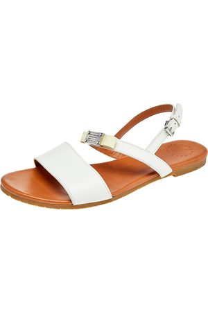 Marc Jacobs Leather Bow Flat Slingback Sandals Size 39.5