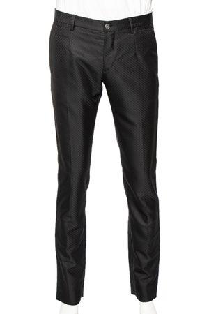 Dolce & Gabbana Patterned Wool Formal Pants M