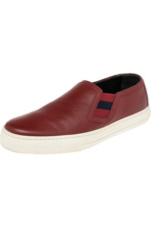 Gucci Leather Slip On Sneakers Size 38