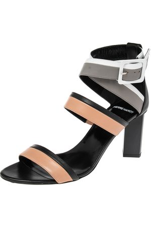 Pierre Hardy Leather Ankle Strap Block Heel Sandals Size 40