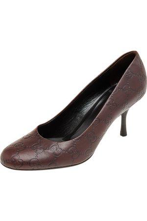 Gucci Ssima Leather Pumps Size 36