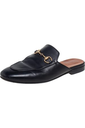 Gucci Leather Princetown Horsebit Mules Size 36.5