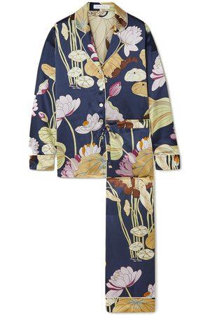 Olivia von Halle Women Pajamas - Lila Floral-Print Silk-Satin Pajama Set