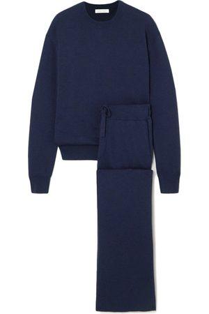 Olivia von Halle Women Sweatpants - Carmel Cashmere And Silk-Blend Sweatshirt And Track Pants Set
