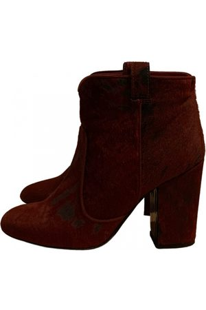 LAURENCE DACADE Pony-style calfskin ankle boots