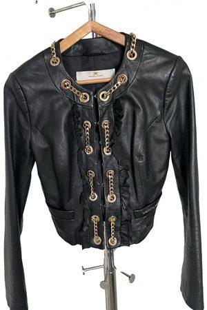Elisabetta Franchi Leather short vest