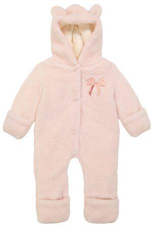 MONNALISA Baby embroidered teddy onesie