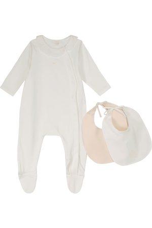 Chloé Baby cotton onesie and bib set