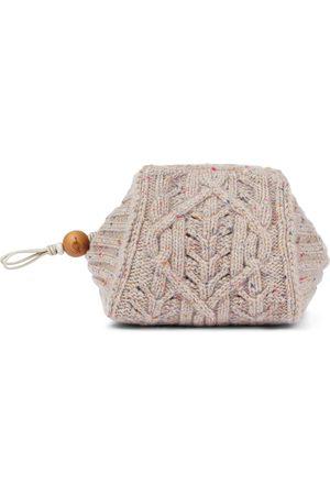Loro Piana Women Clutches - Small cashmere clutch