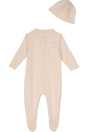 Chloé Rompers - Baby cotton onesie and hat set
