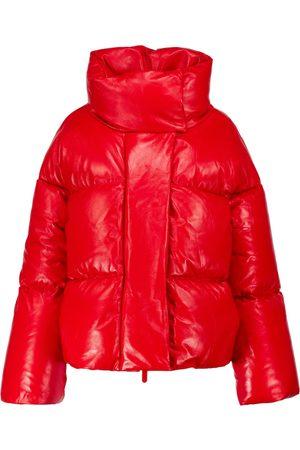 Khaite Raphael leather puffer jacket