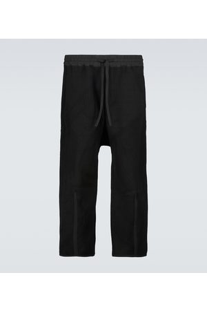 Byborre Men Sweatpants - Cropped drawstring sweatpants