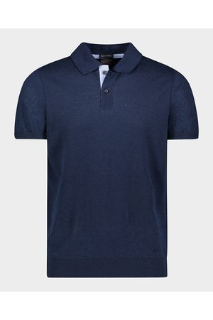 Paul & Shark Men Polo Shirts - Linen & Cotton Polo Sweater With Embroidered Shark