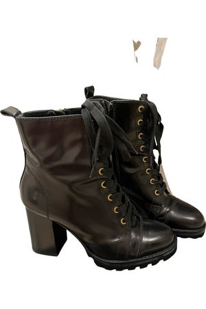 UTERQUE Leather lace up boots