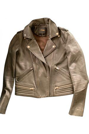 Maje Fall Winter 2019 leather biker jacket