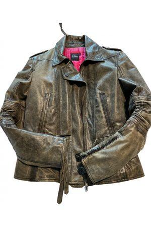 Costume National Leather biker jacket