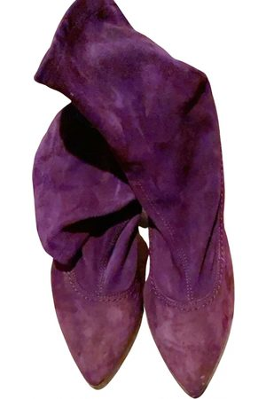 Manila Grace Velvet ankle boots