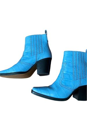 Ganni Leather ankle boots