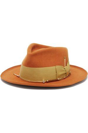 NICK FOUQUET Men Bow Ties - Thilo Bow-tied Felt Fedora Hat - Mens