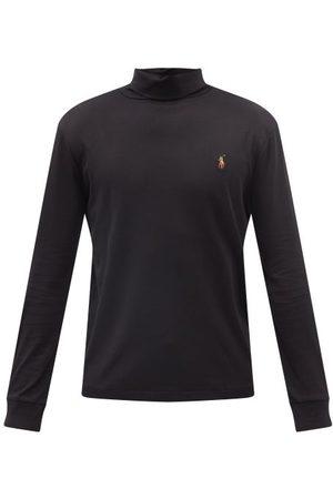 Polo Ralph Lauren Men Long Sleeve - Logo-embroidered Roll-neck Cotton T-shirt - Mens