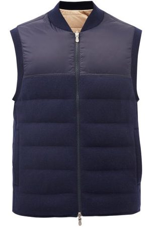 Brunello Cucinelli Reversible Quilted-cashmere Down Gilet - Mens