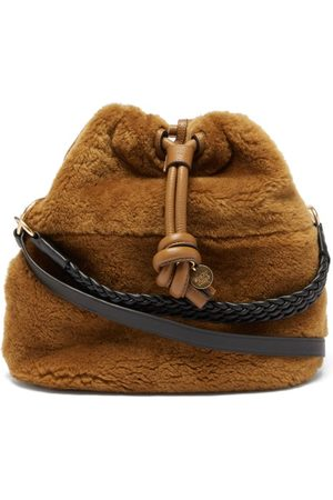 See by Chloé Cleme Shearling And Leather Shoulder Bag - Womens