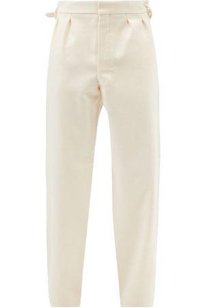 Maison Margiela Men Formal Pants - Tailored Wool Trousers - Mens
