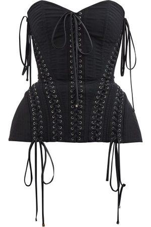 Dolce & Gabbana Padded-hip Boned Mesh Bustier - Womens