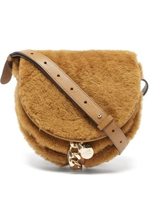 See by Chloé Women Purses - Mara Small Shearling And Leather Saddle Bag - Womens