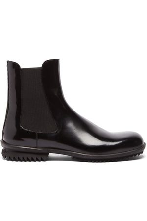 Maison Margiela Ridged-sole Leather Chelsea Boots - Mens