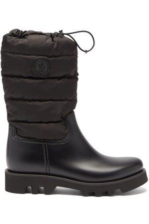 Moncler Ginette Logo-patch Quilted-nylon And Rubber Boots - Womens