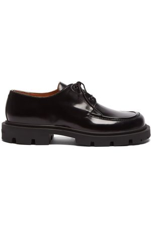 Maison Margiela Men Formal Shoes - Numbers-embossed Leather Derby Shoes - Mens