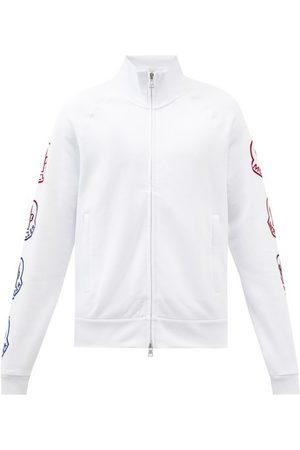 Moncler Logo-print Cotton-jersey Track Jacket - Mens