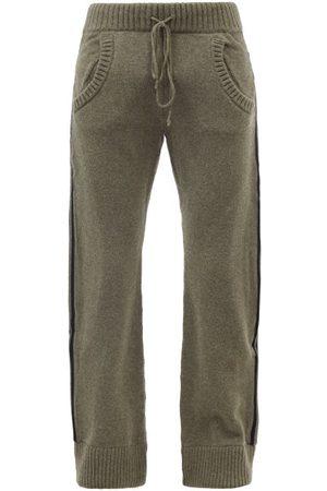 Maison Margiela Striped Wool Track Pants - Mens