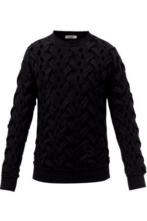 VALENTINO Men Sweaters - Woven Wool-blend Sweater - Mens