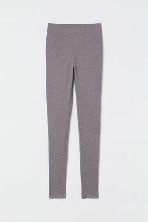 H&M Women Sweats - Ribbed Modal-blend Leggings