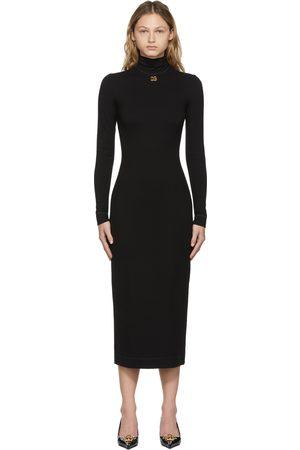 Dolce & Gabbana Women Casual Dresses - Black Jersey DG Logo Dress