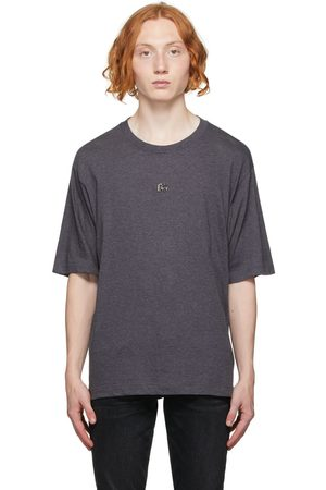 Dolce & Gabbana Men T-shirts - Grey Jersey Logo T-Shirt