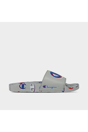 Champion IPO 3Peat Slide Sandals in Grey/Oxford Grey Size 8.0