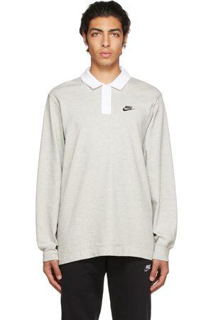 Nike Men Polo Shirts - Gray Men's Rugby Polo