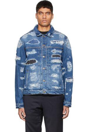 424 FAIRFAX Blue Denim Distressed Jacket